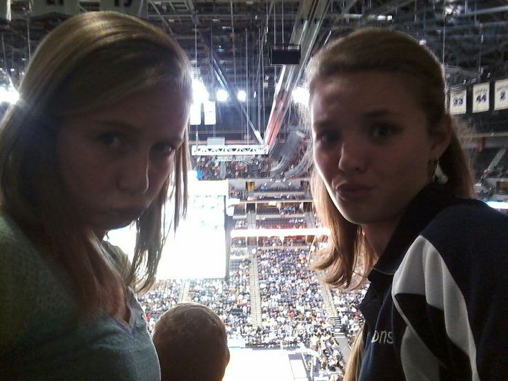 Me and my bestie at the Denver nuggets game!!!😃😄😂😆😀😅