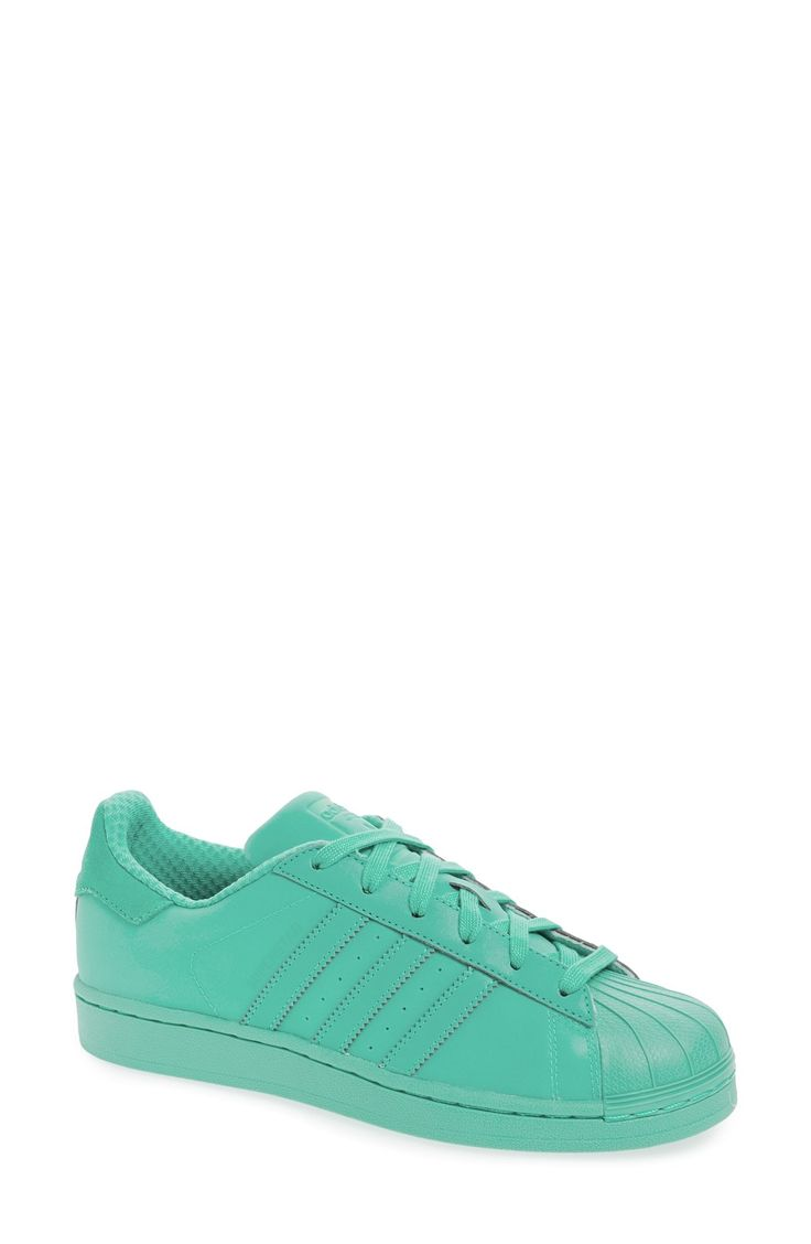 Adidas Superstar Adicolor Halo Blue Monochromatic Tonal Sneakers