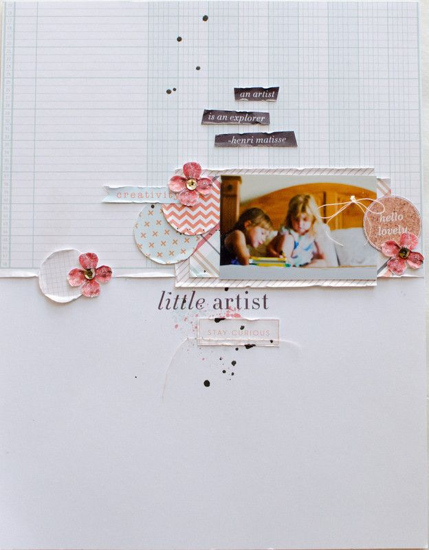 #Papercraft #scrapbook #layout. little artist by 3littleks at @studio_calico