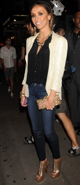 Giuliana Rancic in denim business casual chic