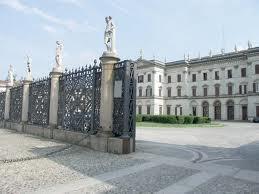 neo-classical Villa Tittoni's entrance - Desio Brianza Italy