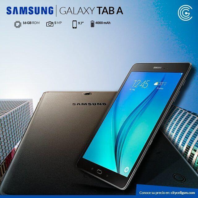 """zpr Mantente conectado con la #Samsung #Galaxy #Tab A 9.7"""", ingresa en → www.citycellgsm.com #ecommerce #FelizJueves #tecnología"""