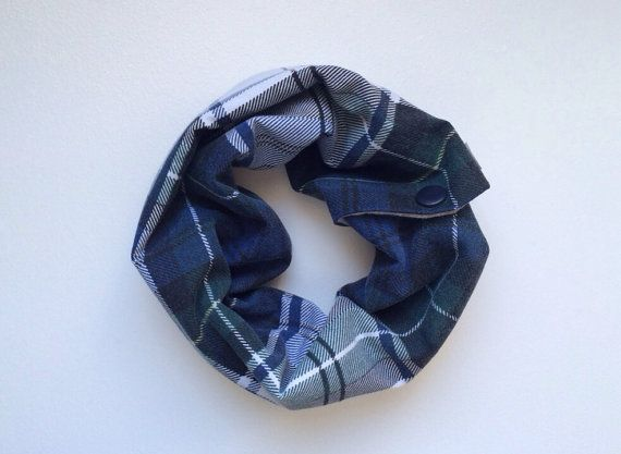 Reversible Toddler Cowl - plaid & chambray OOAK on Etsy, $12.00 CAD
