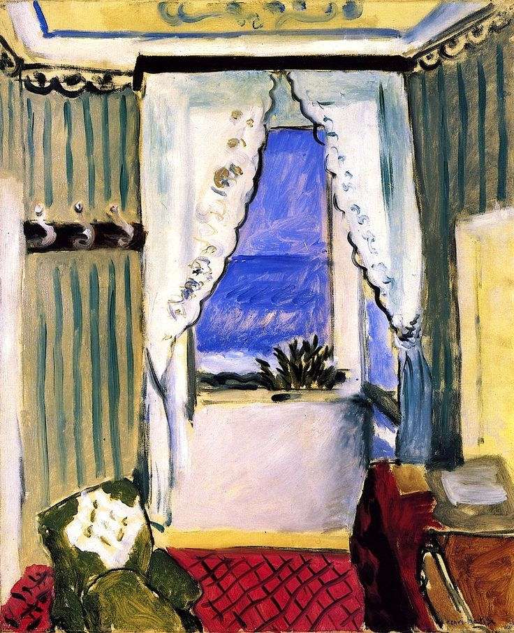 17 best images about paintings with a view through a for Henri matisse fenetre ouverte