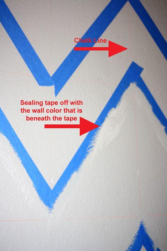 painting chevron walls