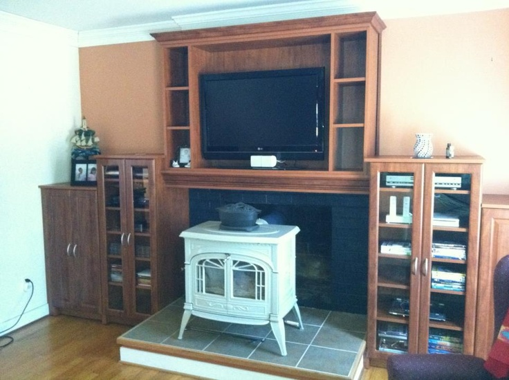 Tailored Living of Richmond does much more than closets!  We can organize your entertainment center to custom fit your room!