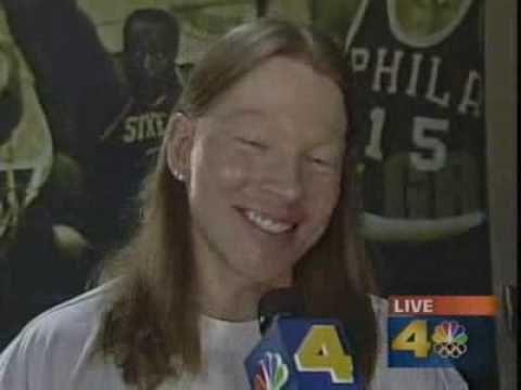 Guns N Roses  Axl Rose Interview 2001 NBA Finals