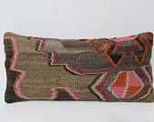 kilim pillow turkish pillowcase lumbar pillow turkish fabric interior decorate wool decorative pillow kilim pillow case rustic pillow 26038