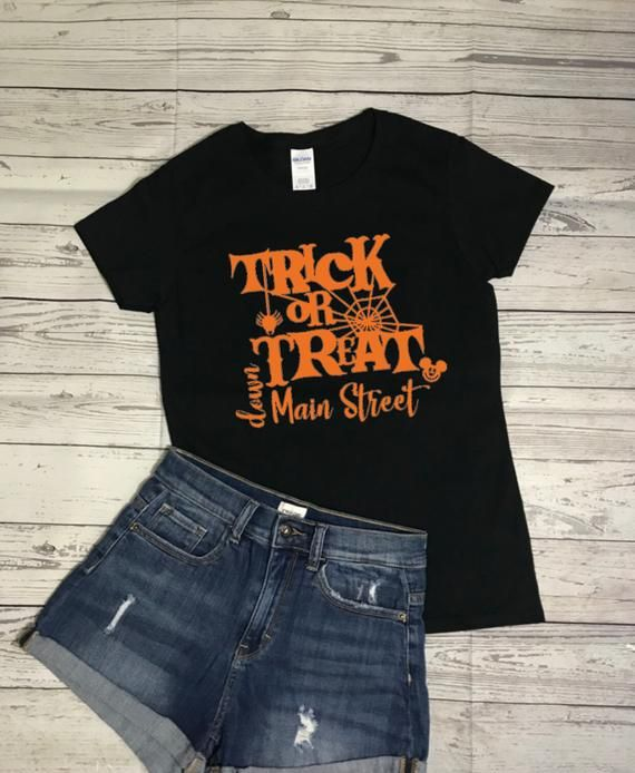 1359d6fe Trick or Treat down Main Street Disney Shirt Disney Halloween | Etsy ...