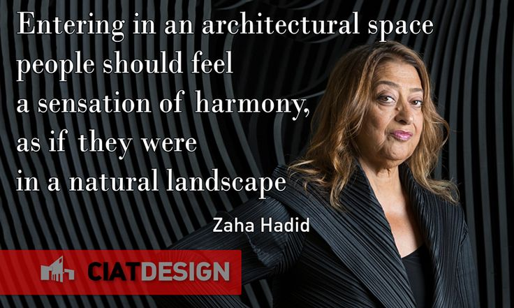 A real modern genius. Zaha #Hadid was one of the most influential architects and designers of our times.
