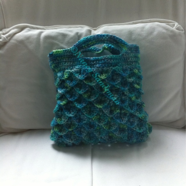 Crochet crocodile stitch purse! Yarn Pinterest