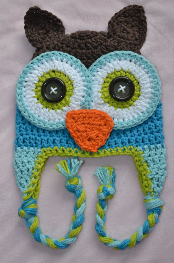 Crochet Chunky Owl Hat Pattern : 17 Best ideas about Owl Hat on Pinterest Crochet owl hat ...
