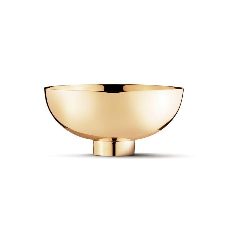 Ilse bowl - brass, small by Georg Jensen