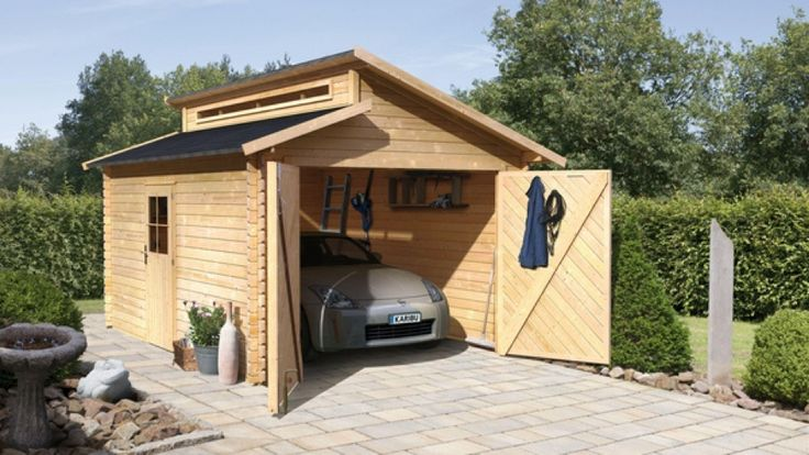 42 best Abris de jardin images on Pinterest Sheds, Decks and Log - construire un garage en bois m