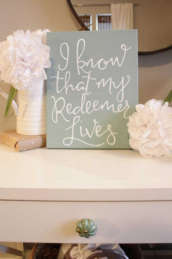 I know that my Redeemer Lives by hilarymariedesign on Etsy