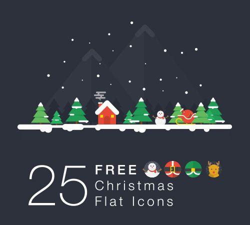 크리스마스 플랫 아이콘
