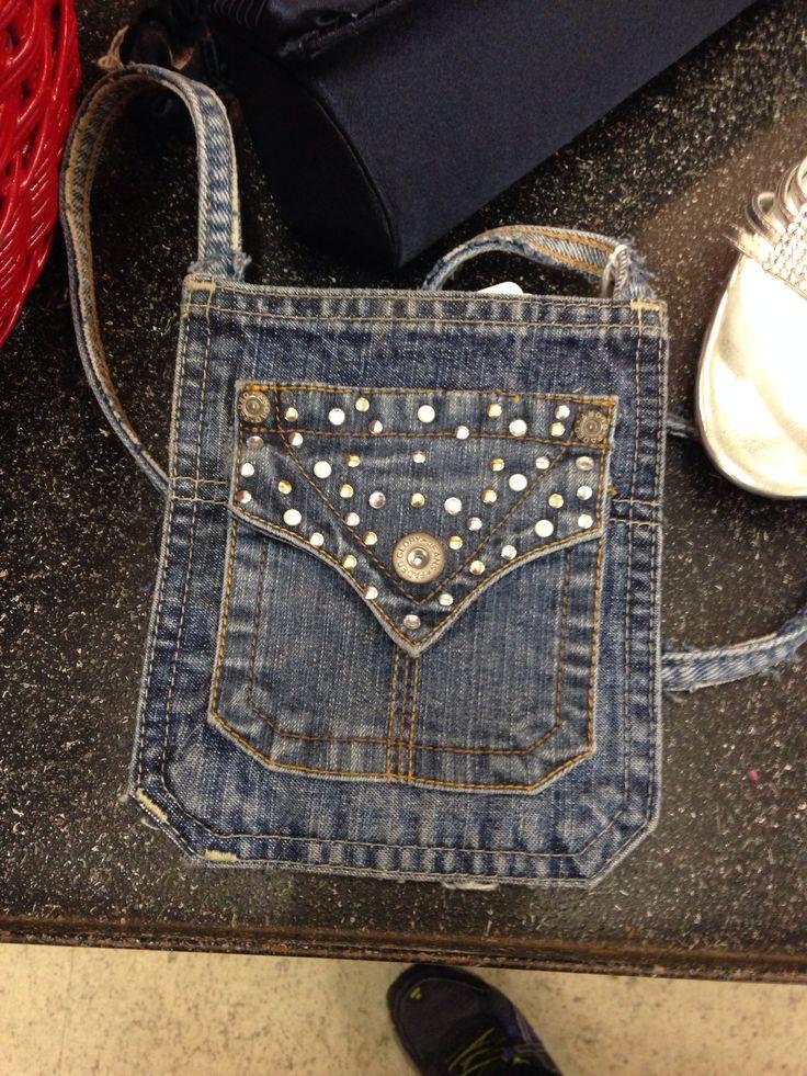 DIY blue jean purse