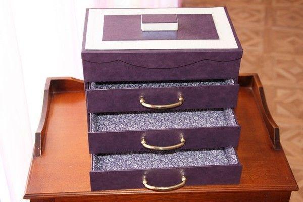 fiche technique boite à bijoux topaze / recycler de vieux calendrier / peut aussi servir de petits rangements pour bricolage