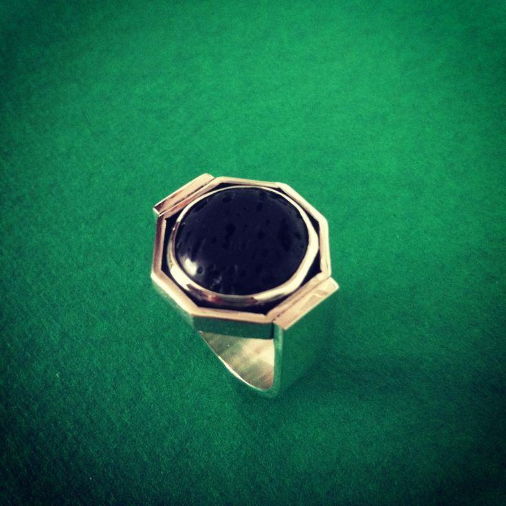 """Captured Lava"" Ring"