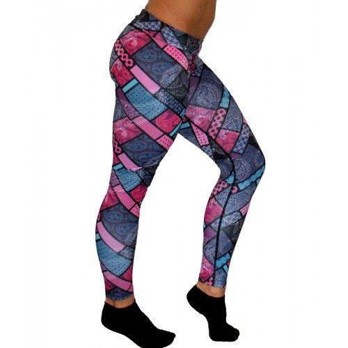 Purple Paisley Leggings - Workout Leggings - Running Leggings - Gym Leggings