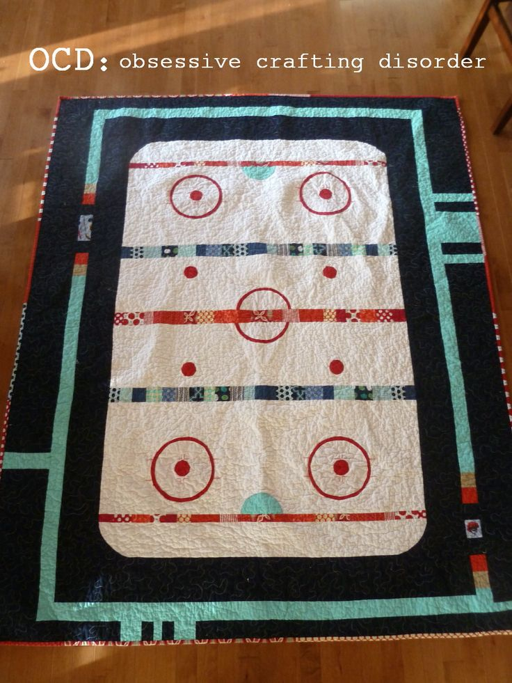 Hockey quilt. YES!