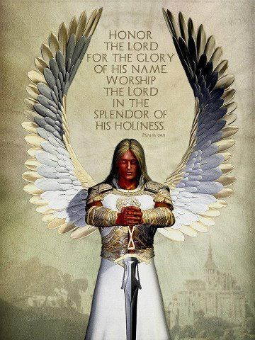There are no female angles. Every Angel spoken of in the Bible are male.  This is a good example of what they are described as. Skin like burnished bronze....Brilliant white that is bliding.  POWERFUL.