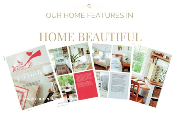 After a major renovation of our home that I completely designed and project managed, we were fortunate to be featured in Home Beautiful Magazine Australia. Here is the story. http://www.carmendarwin.com/project/in-the-press/