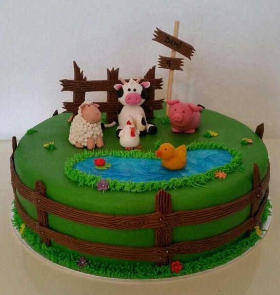 Farm animal cake / boerderij dieren taart
