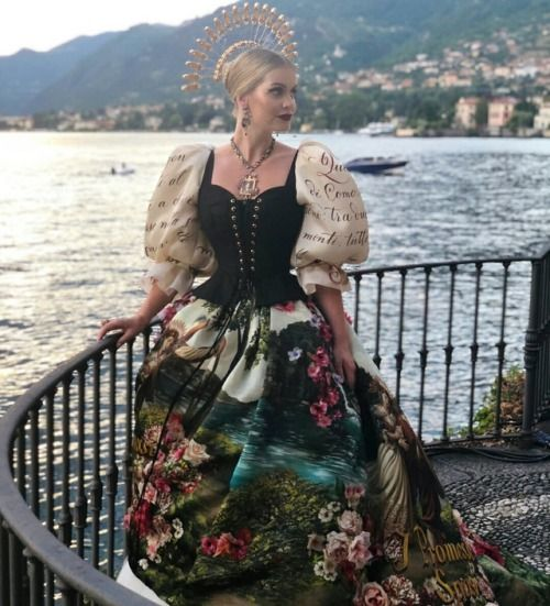 Kitty Spencer At Dolce & Gabbana Alta Moda DGLovesComo