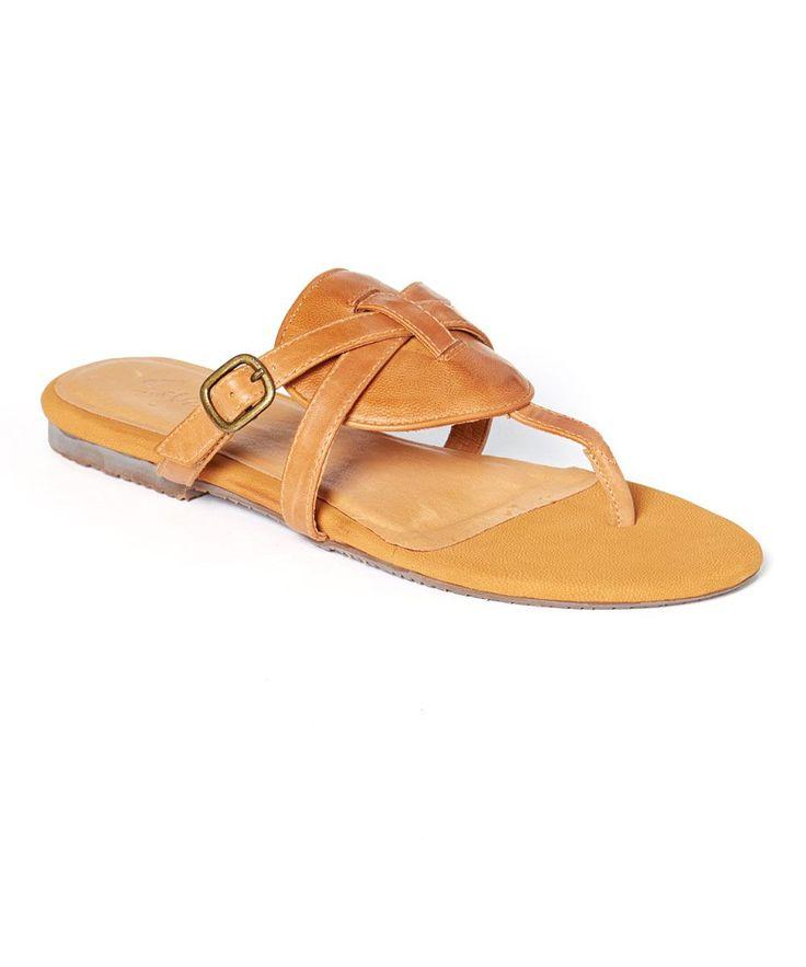 Camel Leather Brody Sandal