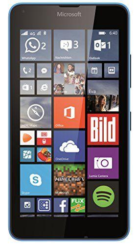 """Microsoft Lumia 640 LTE - Smartphone libre Windows Phone (pantalla 5"""", 8 GB, Quad-Core 1.2 GHz, 4G), azul (importado)"""