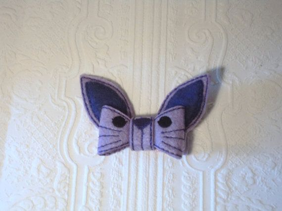 Check out this item in my Etsy shop https://www.etsy.com/ca/listing/179546280/girls-cute-felt-bunny-inspired-bow-clip