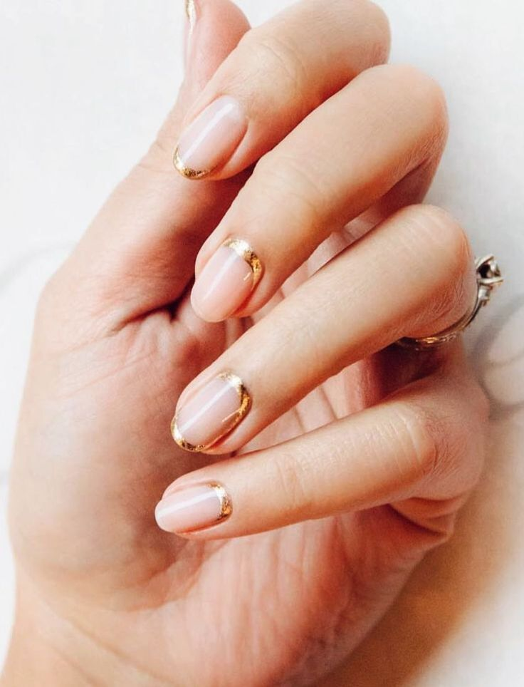 Pinterest Deborahpraha Pink Nails With A Hint Of Gold Nail Art Deborahpraha Nails Pinterest 2 Wedding Day Nails Natural Wedding Nails Bridal Nail Art
