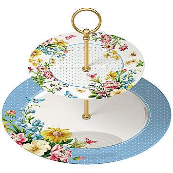 Katie Alice English Garden 2 Tier Boxed Cake Stand  £20.00