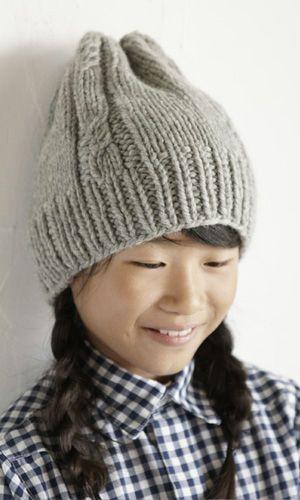 編み物 帽子の参考☆ベーシックで落ち着いた雰囲気♡子どもにも手芸を教えて親子でおそろいにしたい♪