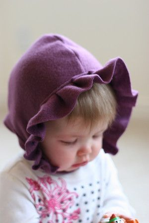 ruffled bonnet.