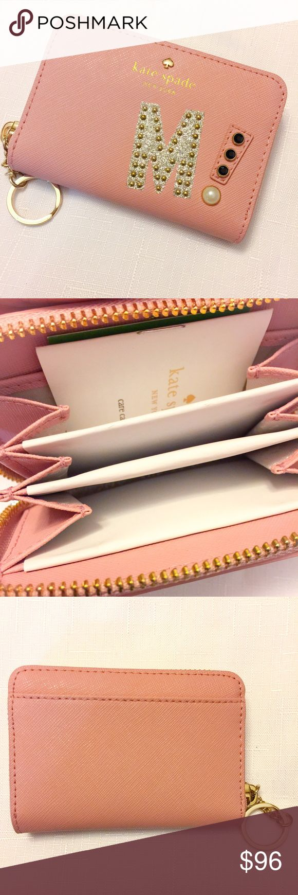 "New Kate Spade Hartley Lane Cassidy Letter Wallet! New Kate Spade Hartley Lane Cassidy Letter Wallet! Fun and adorable zip around mini wallet in the beautiful pink bonnet shade. This mini wallet is made of Saffiano leather and it provides an exterior slip pocket and three interior zip pockets. Measures 4.5"" L X 1"" W X 3""H kate spade Bags Wallets"