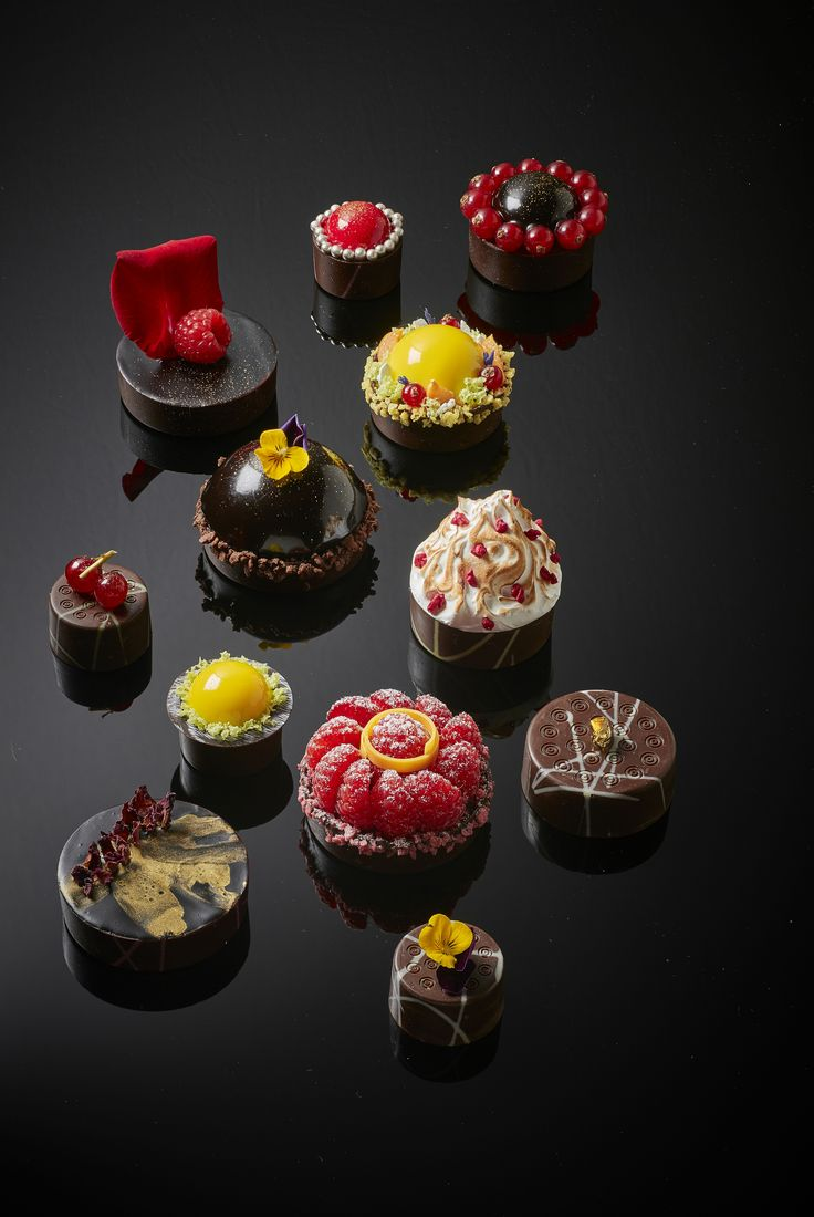 Creative serving suggestion using the new La Rose Noire Chocolate Shells & Cups in Mini, Small and Medium sizes.