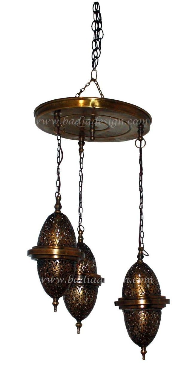 Brass Chandelier With Hanging Lights Ch071