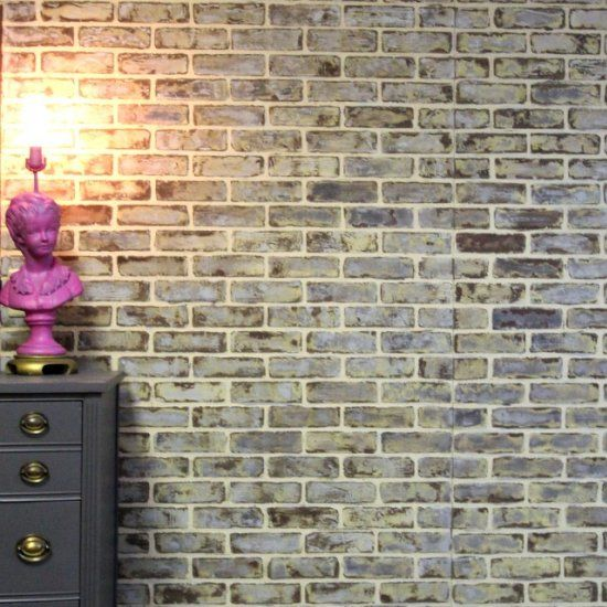 diy faux brick walls