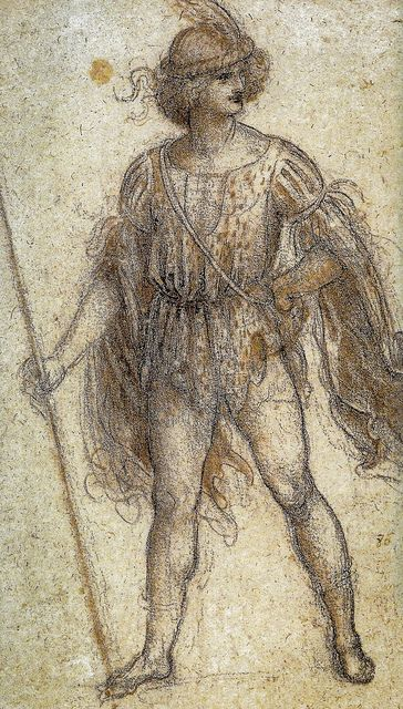 Leonardo da Vinci - A Masquerader, 1518 - Queen's Royal Art Collection Windsor Castle England