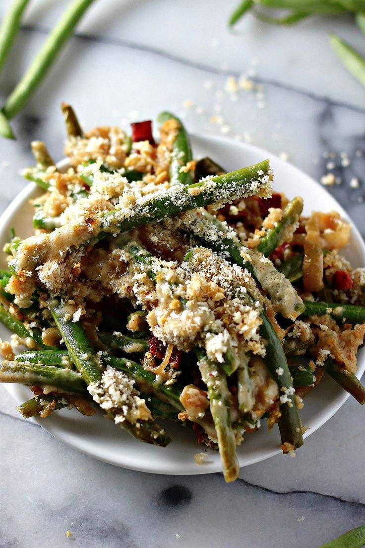 For those times when steamed veggies won't quite do the trick and you need a rich and creamy vegetable side dish: Gourmet Green Bean Casserole with Bacon, Gruyère, and Caramelized Onions. Sprinkle with panko bread crumbs for the ultimate crunchy finish.