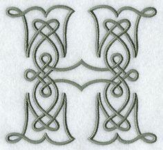 Celtic Knotwork Letter H - 5 Inch
