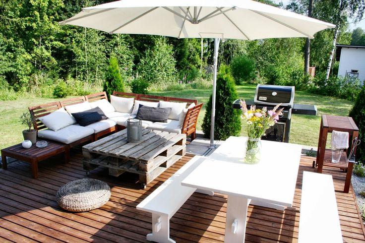 Outdoor terrace patio garden ikea pplar kuormalava pirtti - Ikea pergolas jardin ...
