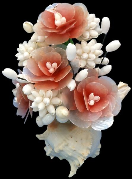 omg so pretty.... Bouquet made from seashells