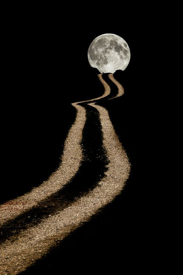 This way to the moon...