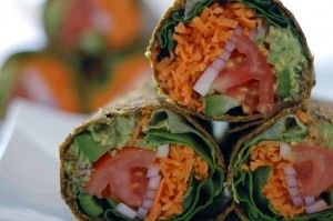 Raw Vegan Gluten-free Guacamole Wrap – raw Food Diet