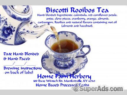 Biscotti Rooibos Tea, Order now, FREE shipping in San Francisco CA - Free San Francisco SuperAds