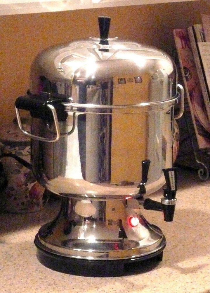 HUGE Stainless Steel Farberware Coffee Maker Peculator 12 - 36 cups. EXCELLENT!