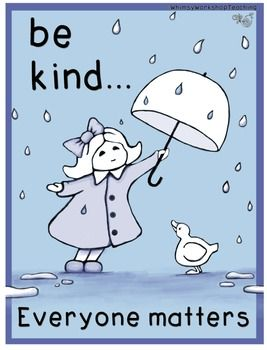 """LOVE this!!! Free """"Be Kind"""" (Classroom Poster)....Follow for free """"too-neat-not-to-keep"""" teaching tools other fun stuff :)"""